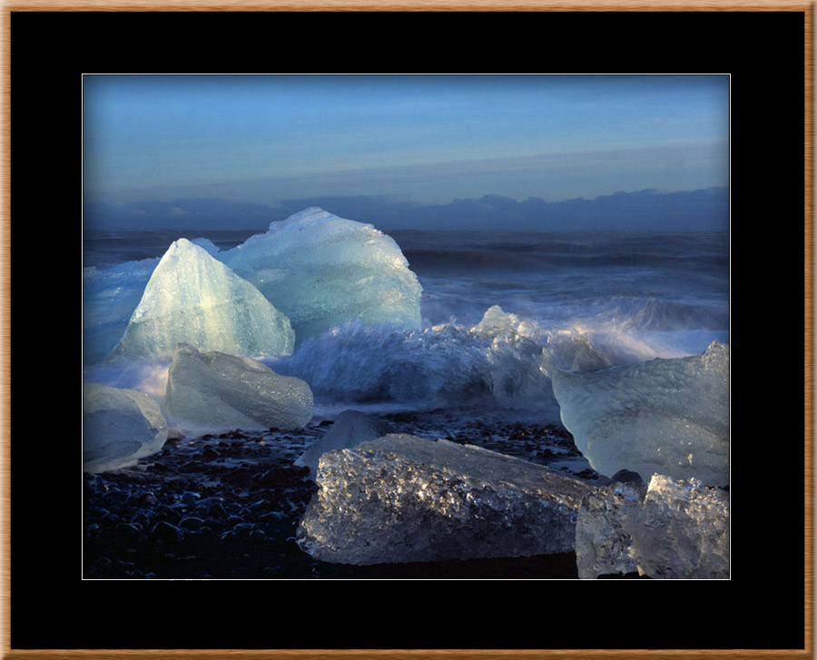 Green Ice Blocks Framed