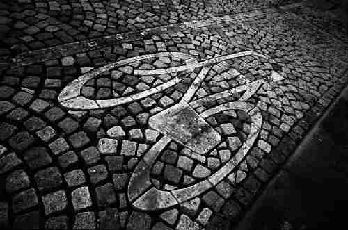 bicycle wallpaper. Bicycle Path in Amsterdam,